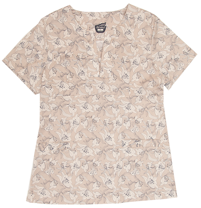 Gillian Lily Khaki Printed Cotton