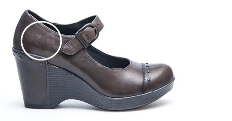 Shoe Has Scuff Marks