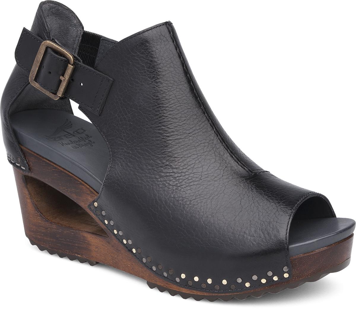 Black dansko sandals - Sable Black Tumbled Calf