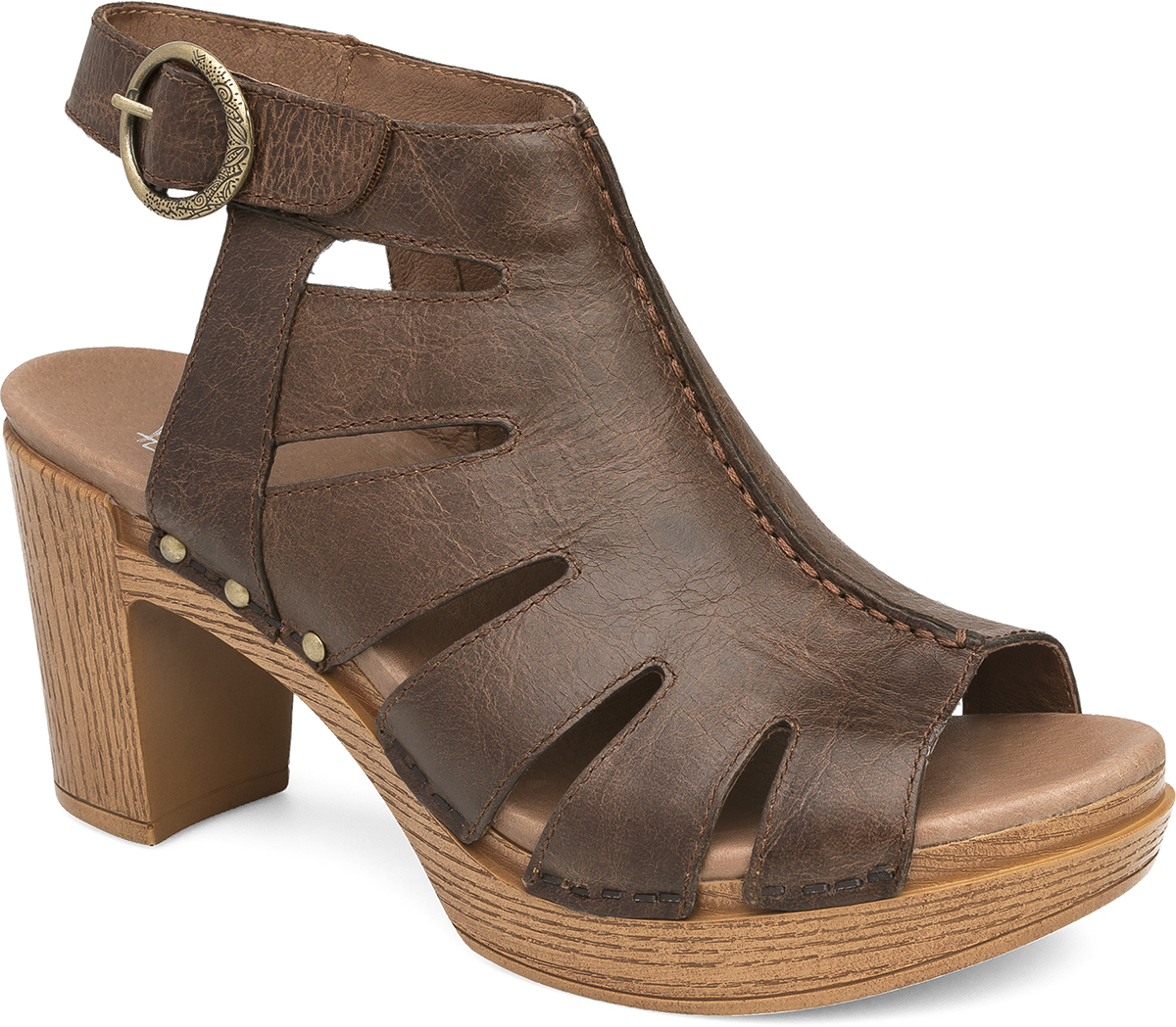 Black dansko sandals - Demetra Teak Vintage Pull Up