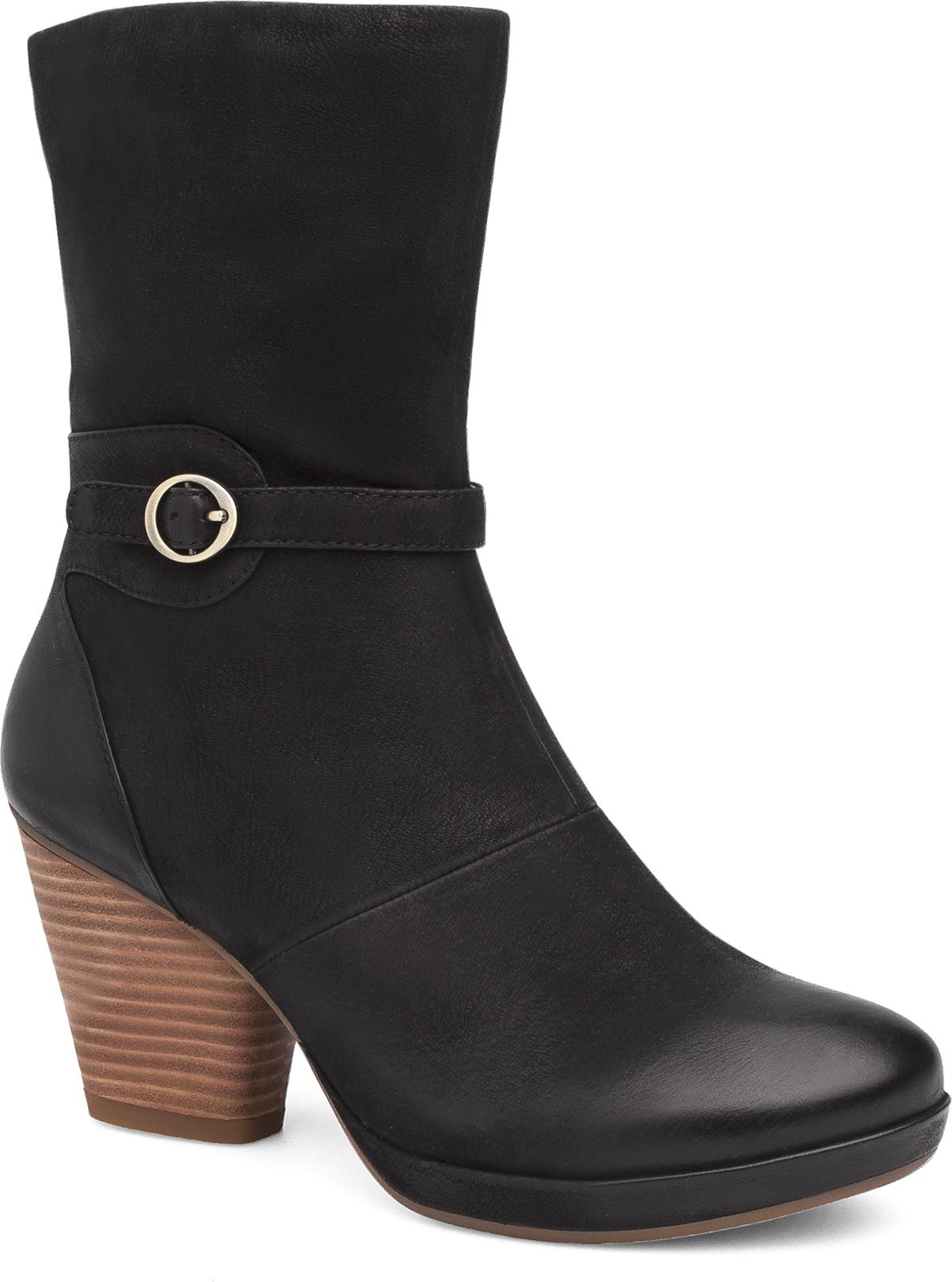 Marietta Black Burnished Nubuck - Dansko® Women's Ankle Boots & Booties Dansko.com