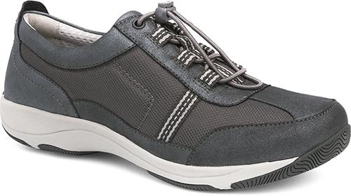 WomensHelenSneakers  inCharcoal/MetallicSuedeLeather