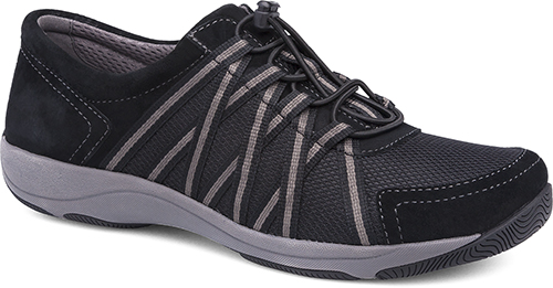WomensHonorSneakers  inBlack/BlacSuedeLeather