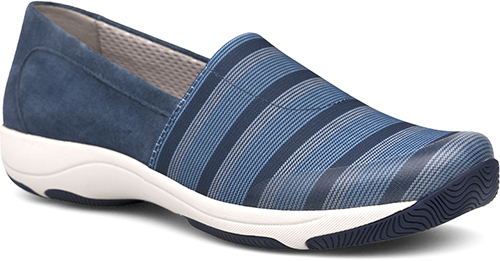 WomensHarrietSneakers  inBlue/StretchSuedeLeather