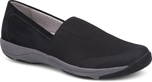 WomensHarrietSneakers  inBlack/StretchSuedeLeather