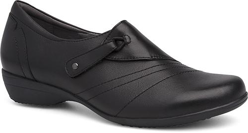 WomensFrannyShoes  inBlackMilledNappa