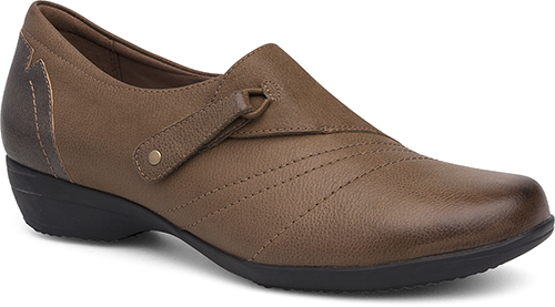 WomensFrannyShoes  inTaupeSuedeBurnishedNappa