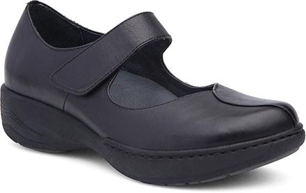 WomensAnnieShoes  inBlackMilledFullGrainLeather
