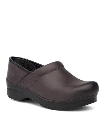 Professional Grey Burnished Nubuck from the Stapled Clog
