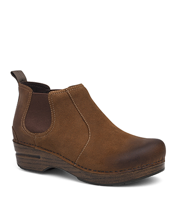 Frankie Brown Burnished Suede from the Stapled Clog