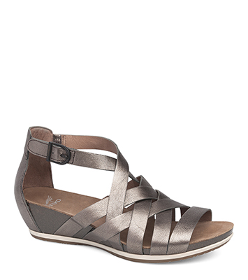 19b232a8352 The Dansko Pewter Nappa from the Vivian collection.
