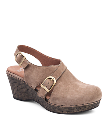 d931d32414d The Dansko Taupe Milled Nubuck from the Vinnie collection.