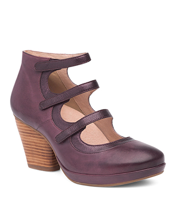 Marlene Wine Burnished Calf from the Marbella