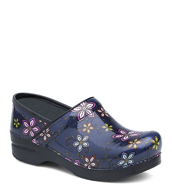 Pro XP Navy Floral Patent from the XP Clog