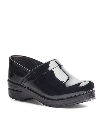Professional (Men) Black Patent from the Stapled Clog