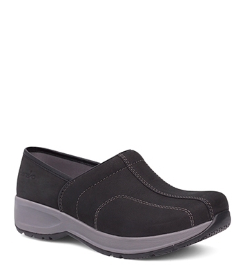 Shaina Black Milled Nubuck from the Sport Clog