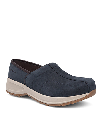 Shaina Navy Milled Nubuck from the Sport Clog