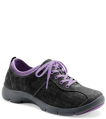 Elise Black Purple Suede from the Sedona