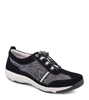 Helen Black Print Suede from the Halifax