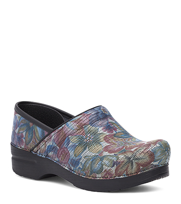 b66c18107f8c The Dansko Exotic Floral Patent from the Professional collection.
