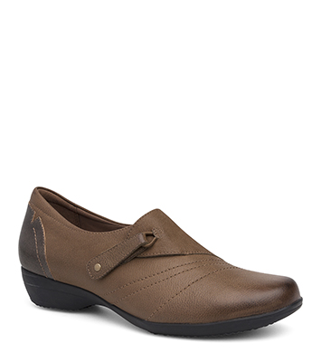 Franny Taupe Burnished Nappa from the Fayette