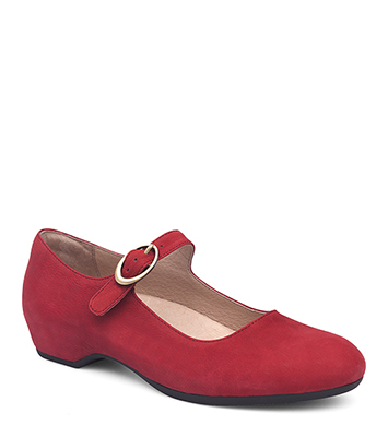 Linette Red Nubuck from the Lillie