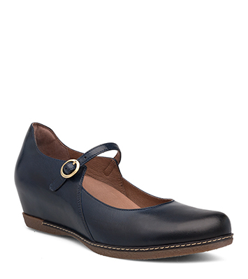 Loralie Navy Burnished Calf from the Laurel