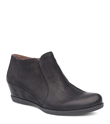 Luann Black Burnished Nubuck from the Laurel