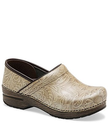 Professional Taupe Arabesque Patent from the Stapled Clog