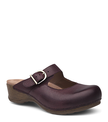 Martina Wine Burnished Nubuck from the Marion