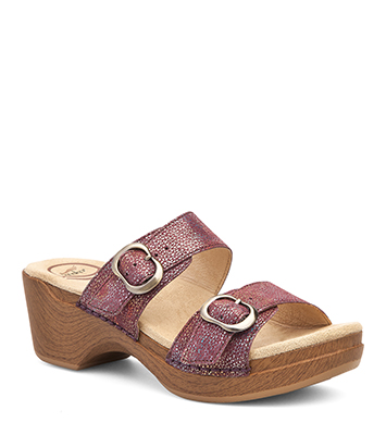 aa4695dbd44 The Dansko Rose Iridescent from the Sophie collection.