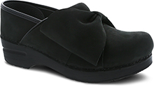 Dansko Outlet - Pro Bow Black Milled Nubuck