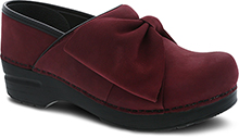 Dansko Outlet - Pro Bow Wine Milled Nubuck