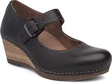 Dansko Outlet - Sandra Black Milled Nappa