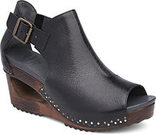 Dansko Outlet - Sable Black Tumbled Calf
