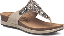 Dansko Outlet - Pamela Taupe Jewelled