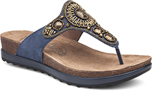 Dansko Outlet - Pamela Blue Jewelled Suede
