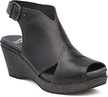 Dansko Outlet - Vanda Black Distressed