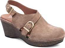 Dansko Outlet - Vinnie Taupe Milled Nubuck