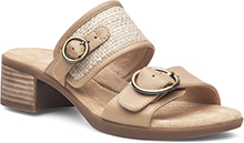 Dansko Outlet - Lenny Sand Full Grain/Raffia