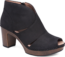 Dansko Outlet - Delphina Black Milled Nubuck