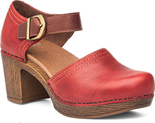 Dansko DotCom - Darlene Red Full Grain