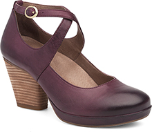 Dansko Outlet - Minette Wine Burnished Nubuck