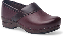 Dansko Outlet - Poppy Bordeaux Burnished Nubuck