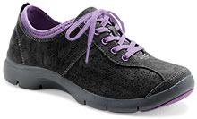 Dansko Outlet - Elise Black Purple Suede