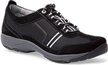 Dansko Outlet - Helen Black White Suede