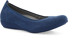 Dansko Outlet - Kristen Blue Milled Nubuck