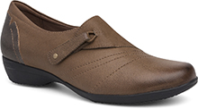 Dansko Outlet - Franny Taupe Burnished Nappa