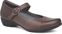 Dansko Outlet - Fawna Chocolate Burnished Nappa