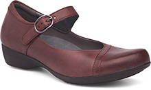 Dansko Outlet - Fawna Wine Burnished Nappa